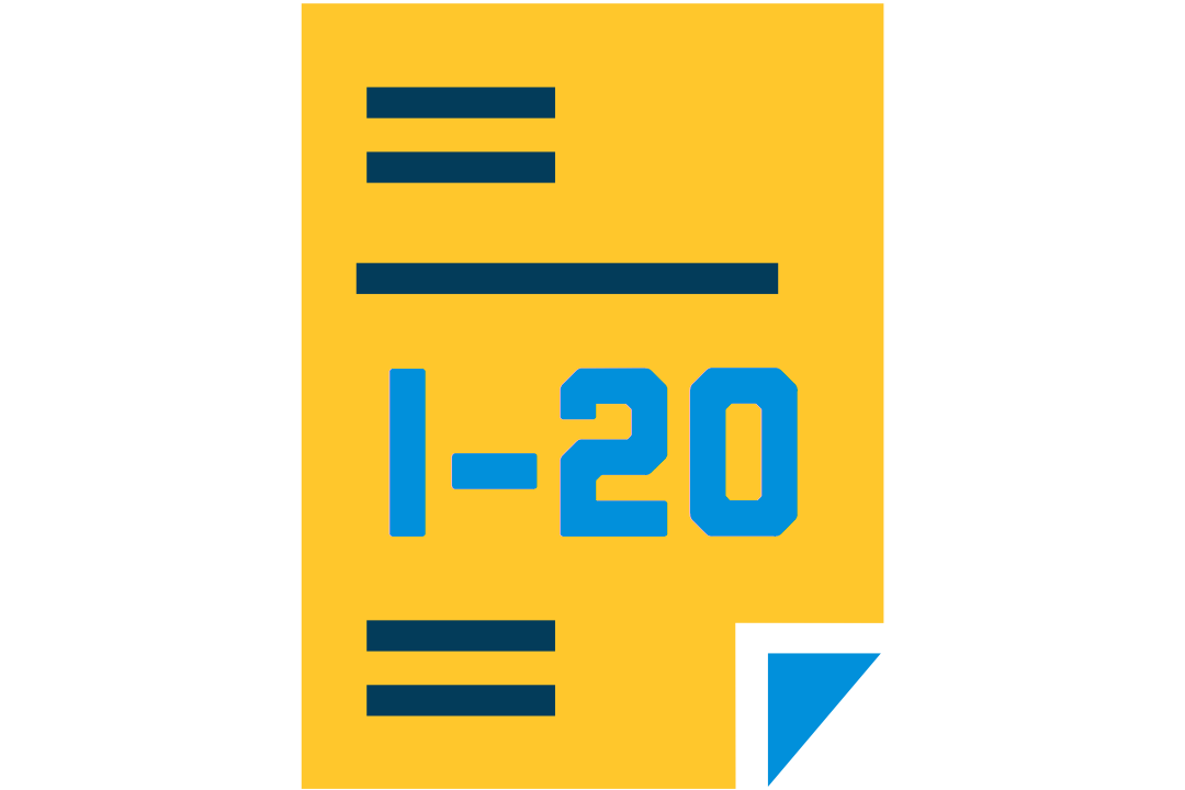 icon representing the form I-20