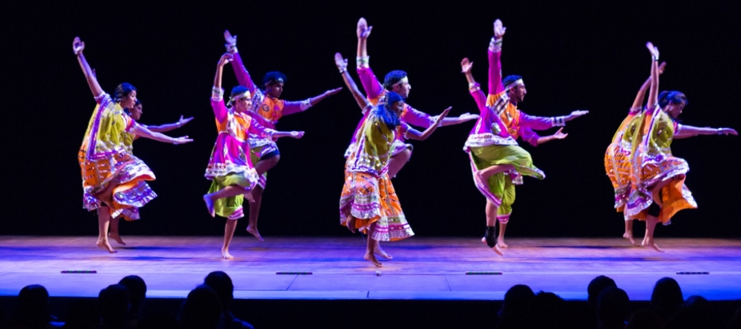 Dance performance on Lisner Auditorium's stage
