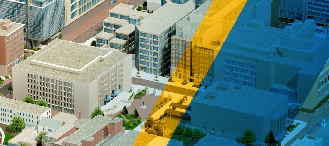 Graphic depiction of buildings on campus from the Virtual Tour