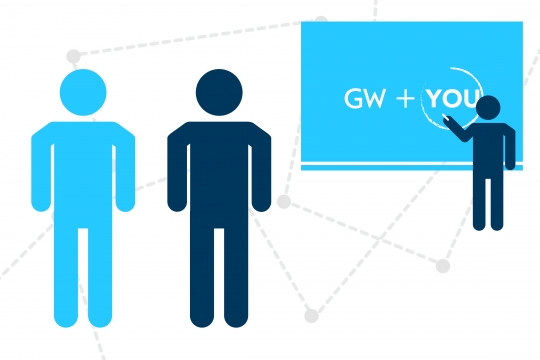 GW + You; Graphical presentation of figures in classroom