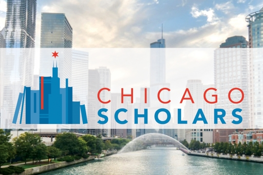 Chicago Scholars; view of Chicago River